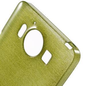 Brush hladký gelový obal na Microsoft Lumia 950 - zelený - 5
