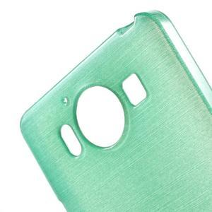 Brush hladký gelový obal na Microsoft Lumia 950 - cyan - 5