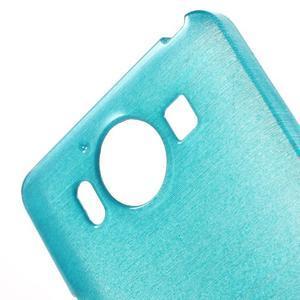 Brush hladký gelový obal na Microsoft Lumia 950 - modrý - 5