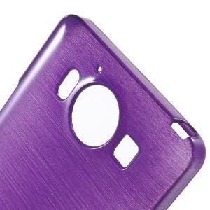 Brush hladký gélový obal pre Microsoft Lumia 950 - fialový - 5