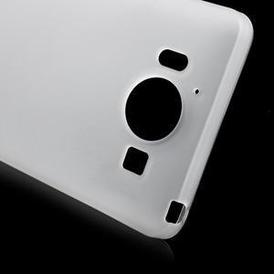 Matný gélový obal pre Microsoft Lumia 950 - biely - 5