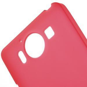 Matný gelový obal na Microsoft Lumia 950 - červený - 5