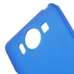 Matný gelový obal na Microsoft Lumia 950 - modrý - 5