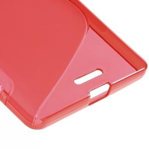 S-line gélový obal pre mobil Microsoft Lumia 950 XL - červený - 5