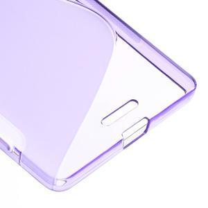 S-line gélový obal pre mobil Microsoft Lumia 950 XL - fialový - 5
