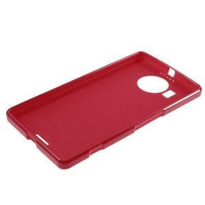 Jelly lesklý gélový obal pre mobil Microsoft Lumia 950 XL - červený - 5