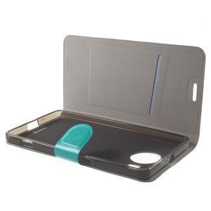 Horse Peňaženkové puzdro pre Microsoft Lumia 950 XL - modré - 5