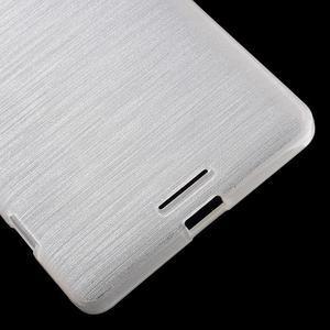 Brushed gélový obal pre mobil Microsoft Lumia 950 XL - biely - 5