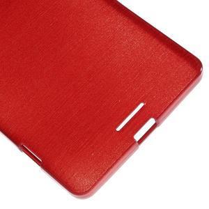 Brushed gélový obal pre mobil Microsoft Lumia 950 XL - červený - 5
