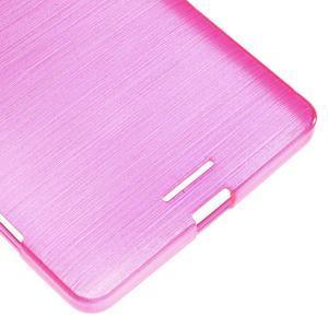 Brushed gélový obal pre mobil Microsoft Lumia 950 XL - rose - 5