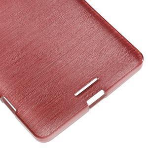 Brushed gélový obal pre mobil Microsoft Lumia 950 XL - ružové - 5
