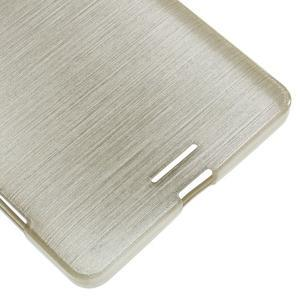 Brushed gélový obal pre mobil Microsoft Lumia 950 XL - zlatý - 5