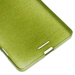 Brushed gélový obal pre mobil Microsoft Lumia 950 XL - zelený - 5