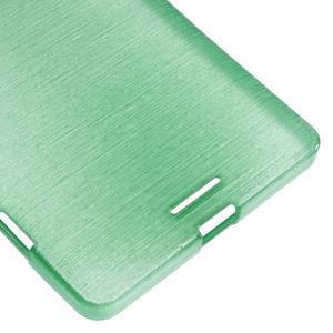 Brushed gélový obal pre mobil Microsoft Lumia 950 XL - cyan - 5