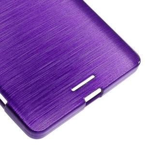 Brushed gélový obal pre mobil Microsoft Lumia 950 XL - fialový - 5