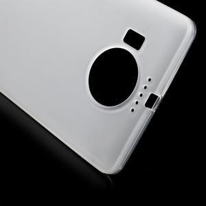 Matný gélový obal pre mobil Microsoft Lumia 950 XL - biely - 5