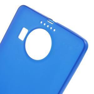 Matný gélový obal pre mobil Microsoft Lumia 950 XL - modrý - 5