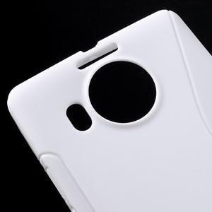 S-line gélový obal pre mobil Microsoft Lumia 950 XL - biely - 5