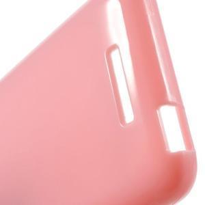 Jelly lesklý gélový obal pre HTC Desire 510 - ružový - 5