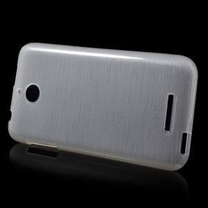 Brushed hladký gelový obal na HTC Desire 510 - transparentní - 5
