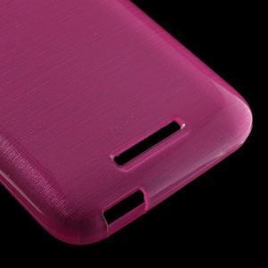 Brushed hladký gélový obal pre HTC Desire 510 - rose - 5