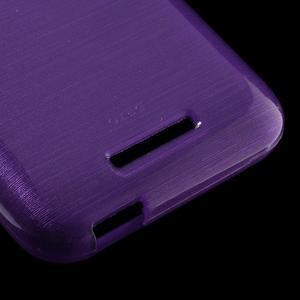 Brushed hladký gélový obal pre HTC Desire 510 - fialový - 5