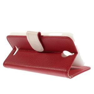 Folio PU kožené pouzdro na mobil HTC Desire 510 - červené - 5