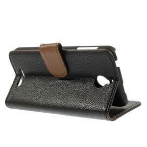Folio PU kožené pouzdro na mobil HTC Desire 510 - černé - 5