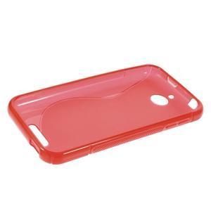 S-line gélový obal pre mobil HTC Desire 510 - červený - 5