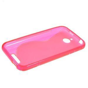 S-line gélový obal pre mobil HTC Desire 510 - rose - 5