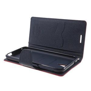 Diary PU kožené puzdro pre mobil HTC Desire 620 - červené - 5
