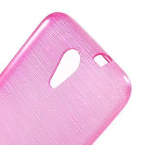 Brushed hladký gélový obal pre HTC Desire 620 - rose - 5