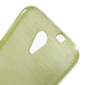 Brushed hladký gélový obal pre HTC Desire 620 - zelený - 5