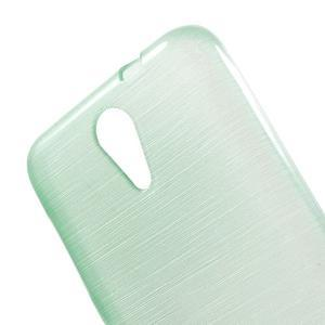 Brushed hladký gélový obal pre HTC Desire 620 - cyan - 5