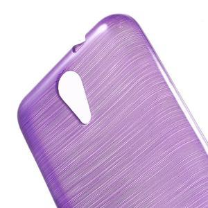 Brushed hladký gélový obal pre HTC Desire 620 - fialový - 5