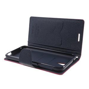 Diary PU kožené puzdro pre mobil HTC Desire 620 - rose - 5