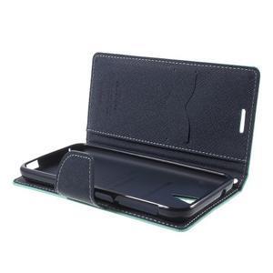 Diary PU kožené puzdro pre mobil HTC Desire 620 - cyan - 5