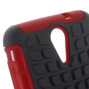 Outdoor odolný obal pre mobil HTC Desire 620 - červený - 5