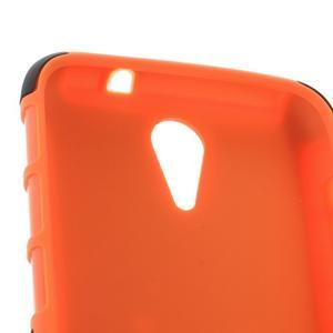 Outdoor odolný obal pre mobil HTC Desire 620 - oranžový - 5