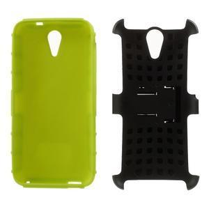Outdoor odolný obal pre mobil HTC Desire 620 - zelený - 5