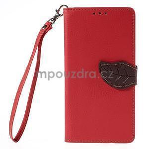 Červené peňaženkové puzdro na Huawei Ascend G7 - 5