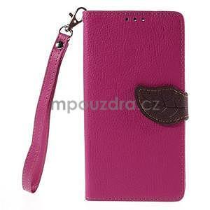 Rose peňaženkové puzdro na Huawei Ascend G7 - 5