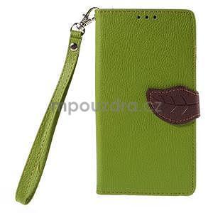 Zelené peňaženkové puzdro na Huawei Ascend G7 - 5