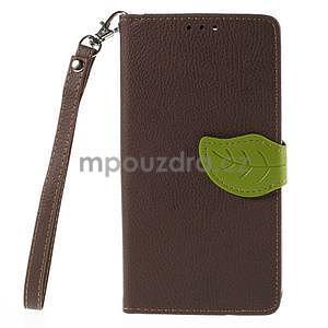 Hnedé peňaženkové puzdro na Huawei Ascend G7 - 5