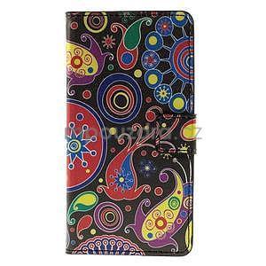 Peňaženkové puzdro na Huawei Y635 - farebné kruhy - 5