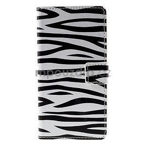 Peňaženkové puzdro na Huawei Y635 - zebra - 5
