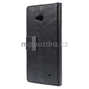 Peňaženkové kožené puzdro na Microsoft Lumia 640 - čierné - 5
