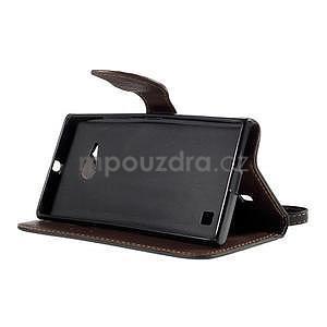 PU kožené púzdro so zapínaním na Nokia Lumia 730/735 - čierne - 5