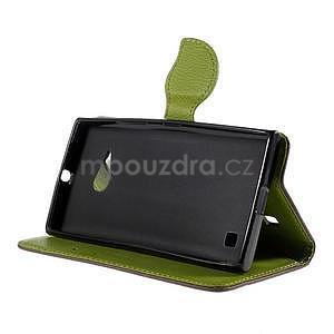 PU kožené púzdro so zapínaním na Nokia Lumia 730/735 - hnedé - 5