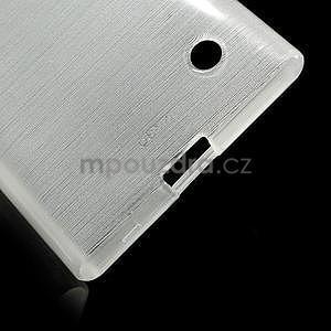Gélový obal Brush na Nokia Lumia 730/735 -biely - 5